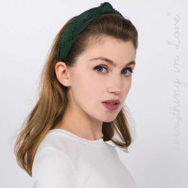 Do everything in Love brand knotted lace headband.  - One size fits most - 100% Polyester