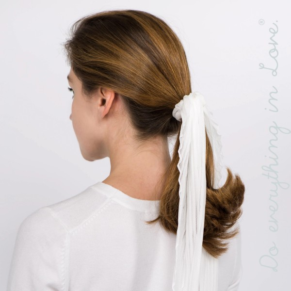 """Do everything in Love brand sheer hair scarf scrunchie.   - Approximately 22"""" in length - 100% Polyester"""