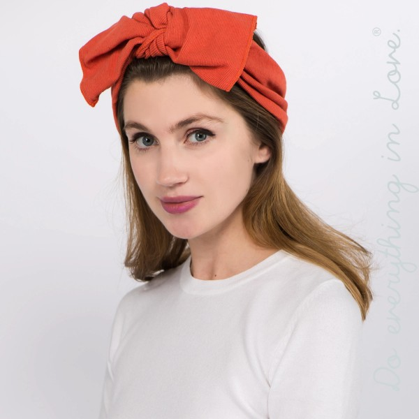 Do everything in Love brand knotted bow headwrap.  - One size fits most - 100% Cotton