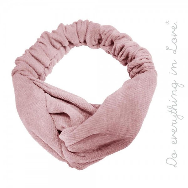 Do everything in Love brand solid color knotted hair scrunchie.  - One size - 100% Polyester
