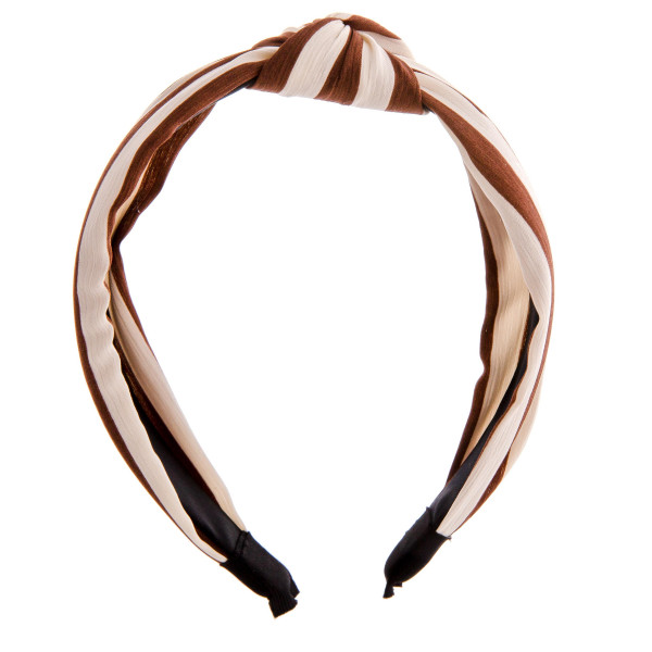 Do everything in Love brand knotted striped headband.  - One size fits most - 100% Polyester