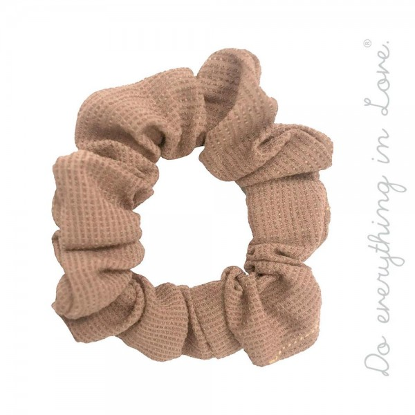 Do everything in Love brand solid color waffle textured hair scrunchie.  - One size - 100% Polyester