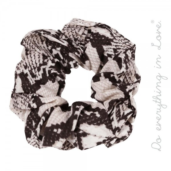 Do everything in Love brand snakeskin hair scrunchie.  - One size - 100% Polyester