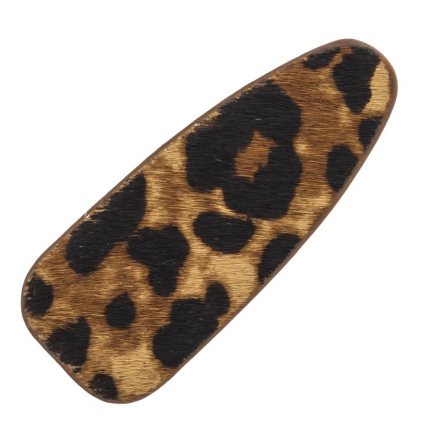 Wholesale faux fur leopard print hair clip