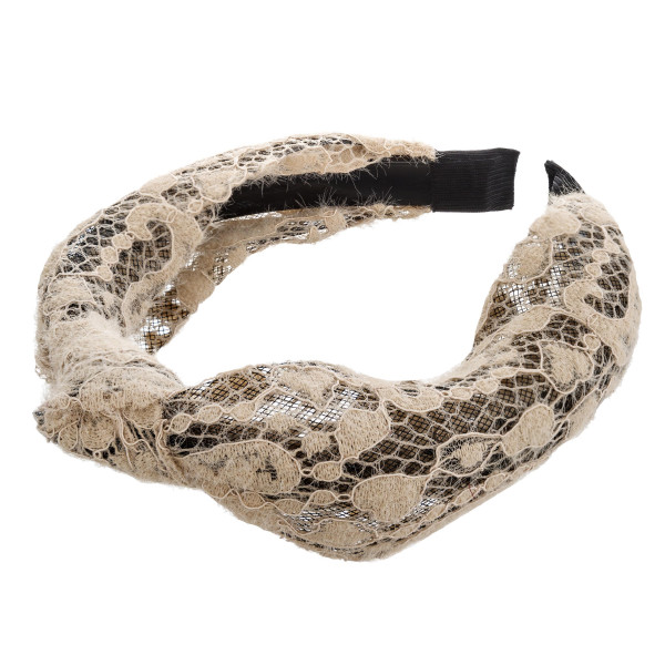 Knotted lace headband.  - One size fits most  - 100% Polyester