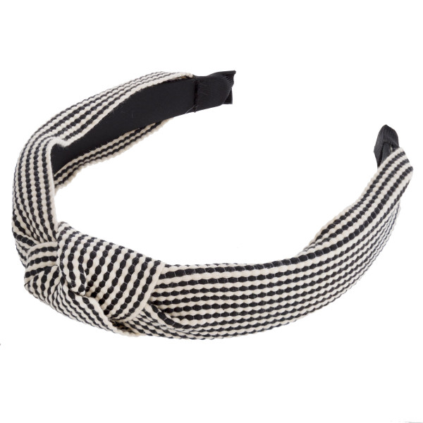 Twill knotted headband.  - One size fits most - 100% Acrylic