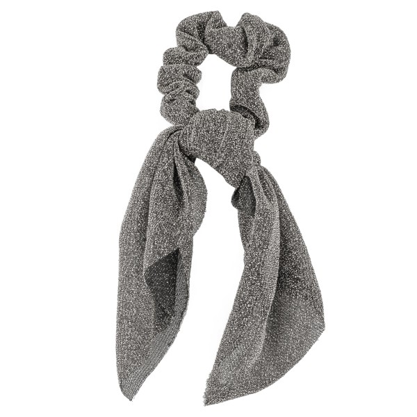 "Metallic mesh hair scarf scrunchie.  - One size  - Approximately 7"" L - 100% Polyester"