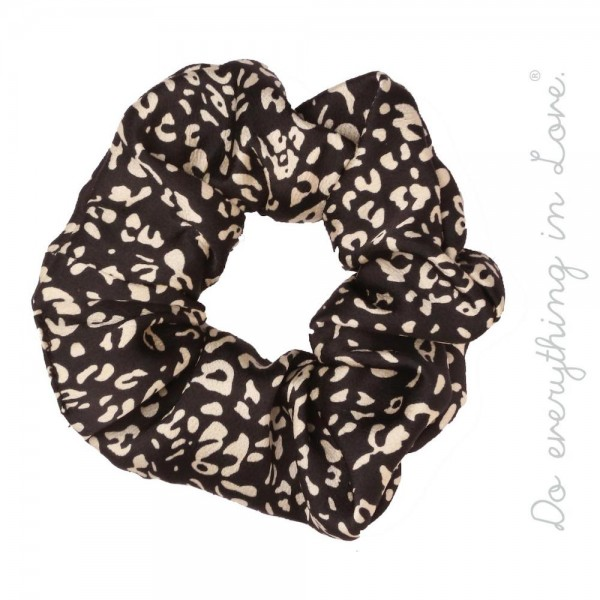 Do everything in Love brand black leopard print scrunchie.  - One size - 100% Polyester