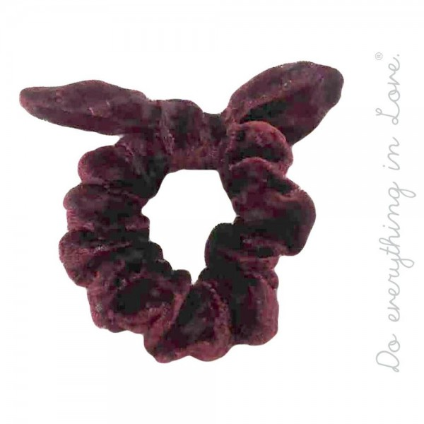 Do everything in Love brand burnout velvet bow scrunchie.  - One size - 100% Polyester
