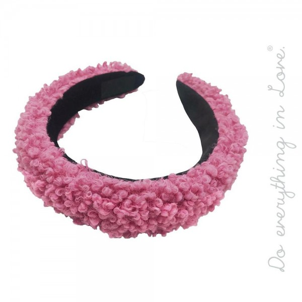 Do everything in Love brand solid color teddy bear fur headband.  - One size fits most - 100% Polyester