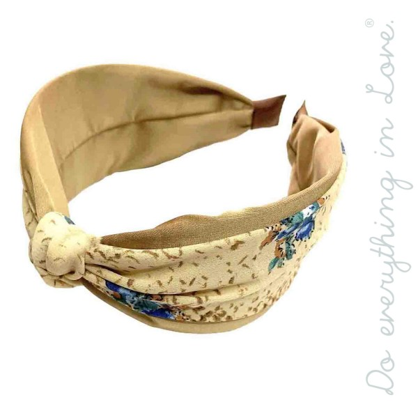 Do everything in Love brand floral snakeskin knotted headband.  - One size fits most - 100% Polyester