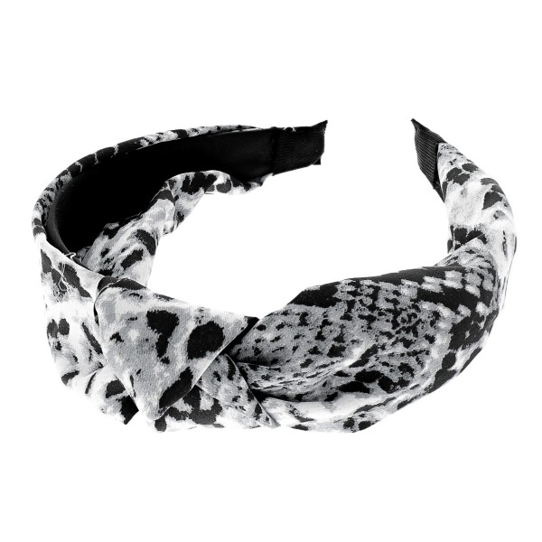 Wholesale snakeskin knotted headband One fits most Polyester