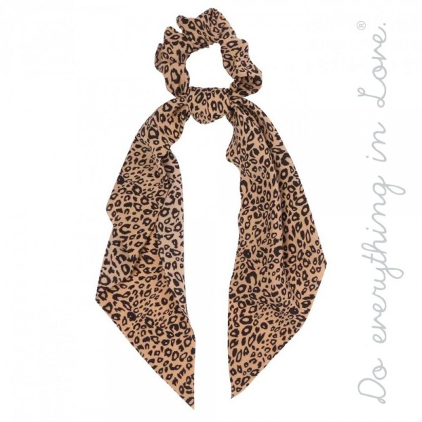 "Do everything in Love brand leopard print hair scarf scrunchie.  - One size - Approximately 12"" L - 100% Polyester"
