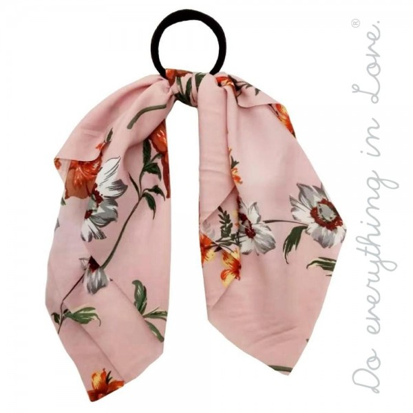 "Do everything in Love brand floral print ponytail scarf.  - One size - Approximately 12"" L - 100% Polyester"