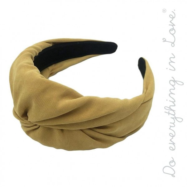 Do everything in Love brand twisted solid corduroy headband.  - One size - 100% Polyester