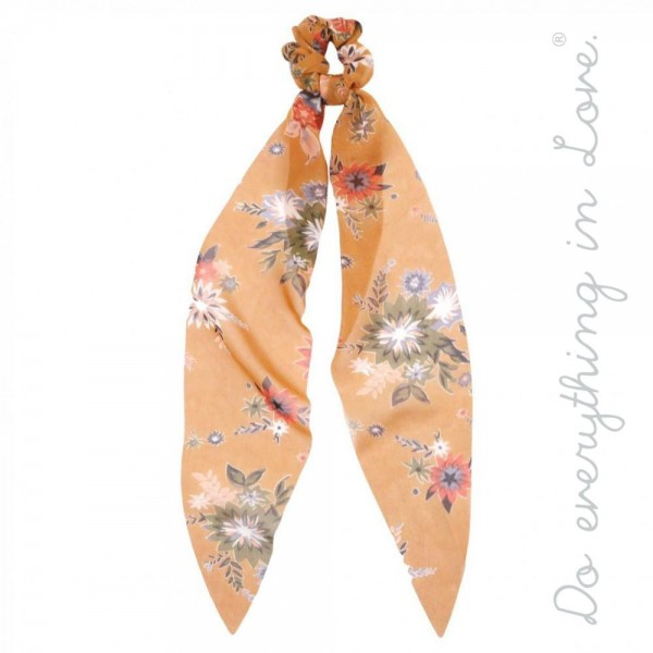 Wholesale do everything Love brand floral vintage floral print hair scarf scrunc