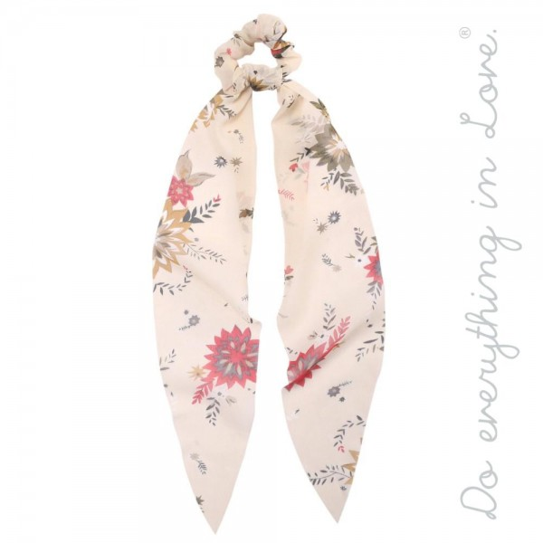 "Do everything in Love brand floral vintage floral print hair scarf scrunchie.  - One size - Approximately 16"" L - 100% Polyester"