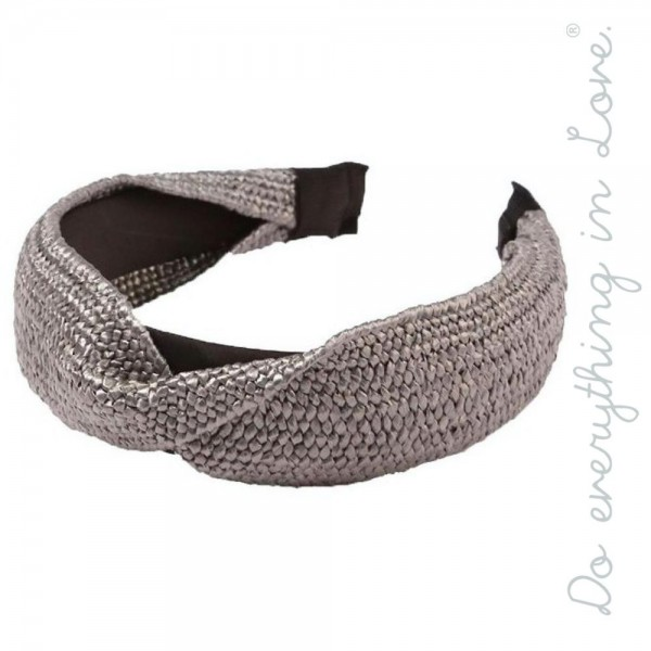 Do everything in Love brand twisted straw headband.  - One size - 100% Polyester