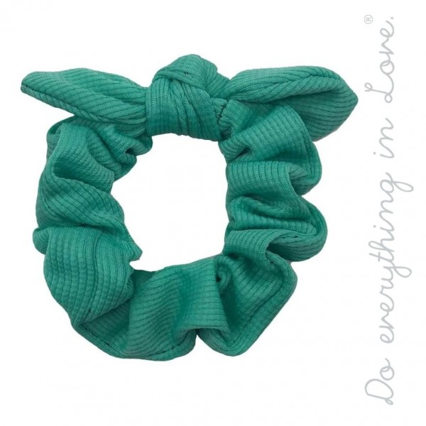 Do everything in Love brand solid bow hair scrunchie.  - One size - 100% Polyester
