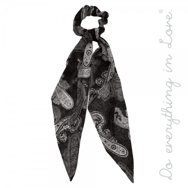 """Do everything in Love brand velvet paisley hair scarf scrunchie.  - One size - Approximately 11"""" L - 100% Polyester"""
