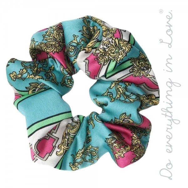 Do everything in Love brand designer print inspired hair scrunchie.  - One size - 100% Polyester