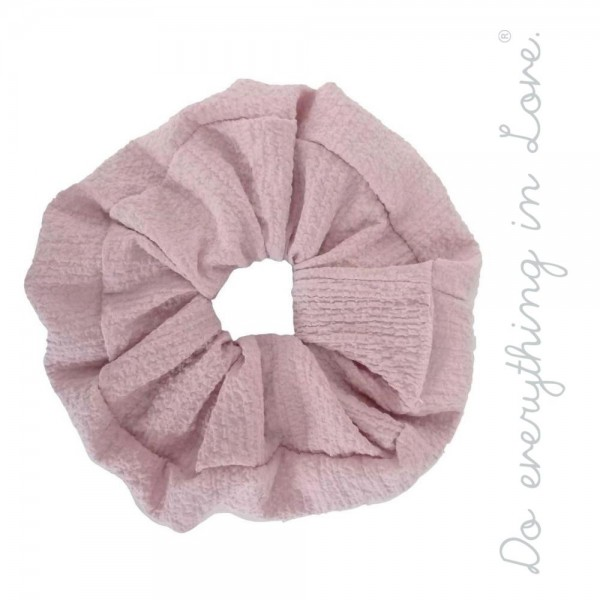 Do everything in Love brand solid crinkled oversized hair scrunchie.  - One size - 100% Polyester