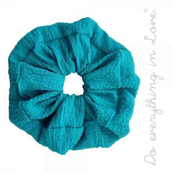Wholesale do everything Love brand solid crinkled oversized hair scrunchie One P