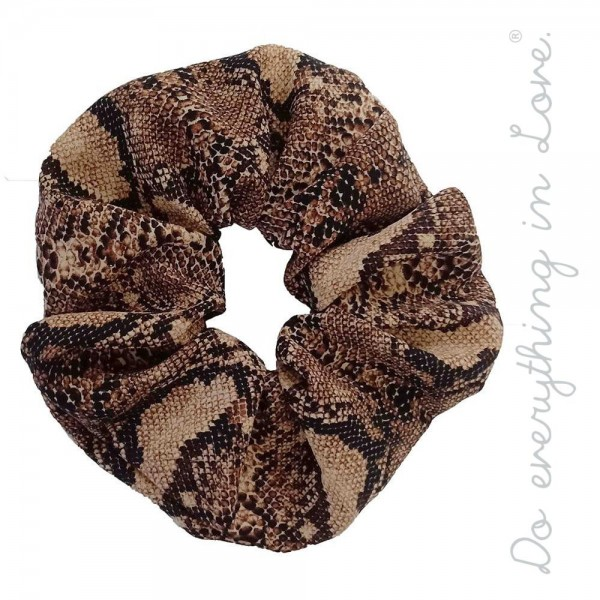 Do everything in Love brand snakeskin oversized hair scrunchie.  - One size - 100% Polyester