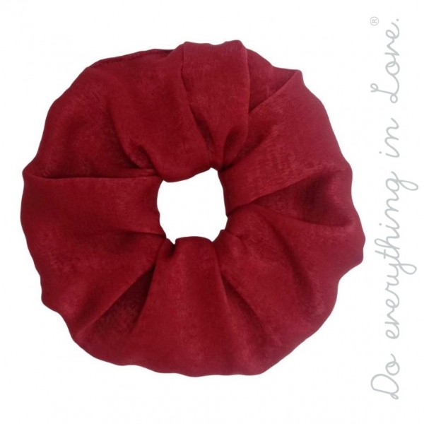 Wholesale do everything Love brand solid silky oversized hair scrunchie One Poly