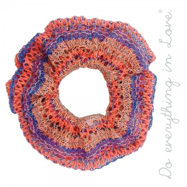 Do everything in Love brand multicolor crochet hair scrunchie.  - One size - 100% Polyester