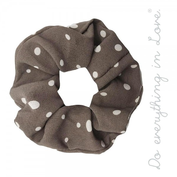 Do everything in Love brand polka dot hair scrunchie.  - One size - 100% Polyester