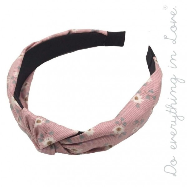 Do everything in Love brand knotted floral headband.  - One size - 100% Polyester