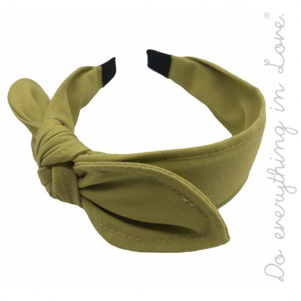 Do everything in Love brand knotted bow headband.  - One size - 100% Polyester