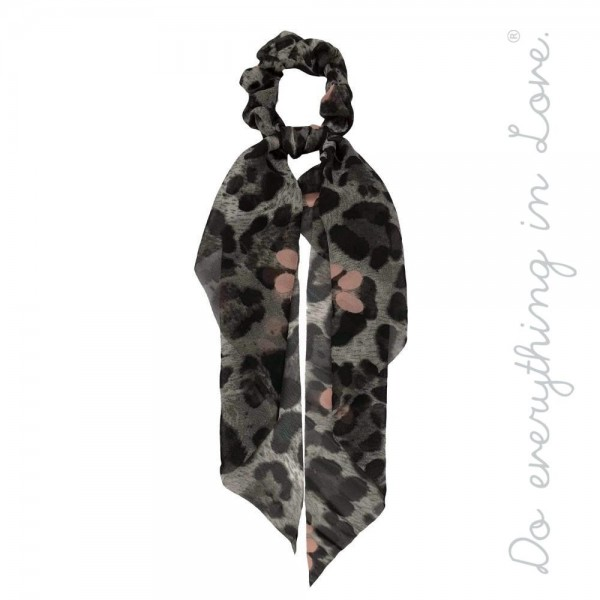 """Do everything in Love brand leopard print hair scarf scrunchie.  - One size - Approximately 11"""" L - 100% Polyester"""
