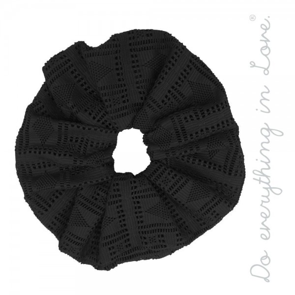 Do everything in Love brand solid laser-cut hair scrunchie.  - One size - 100% Polyester