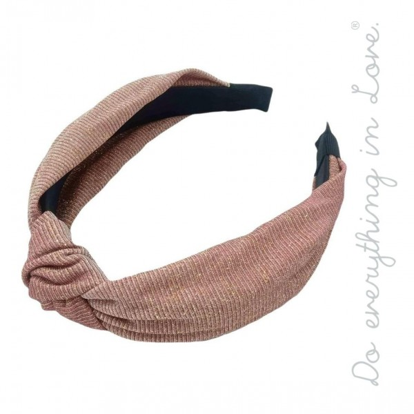 Do everything in Love brand knotted metallic glitter headband.  - One size  - 100% Polyester