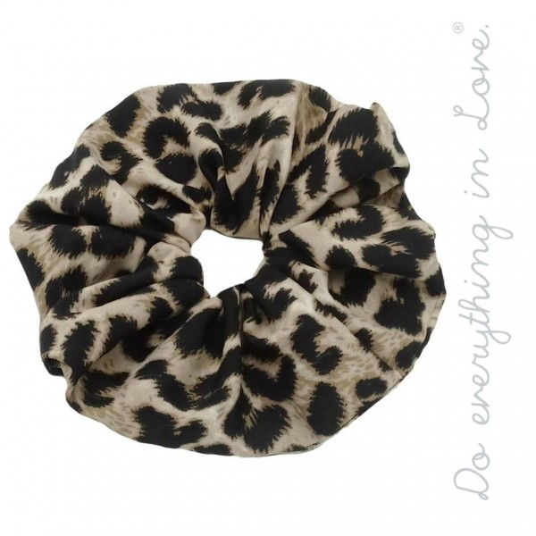 Do everything in Love brand black leopard print oversized hair scrunchie.  - One size  - 100% Polyester