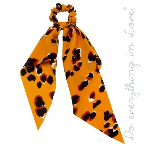 """Do everything in Love brand leopard print hair scarf scrunchie.  - One size - Approximately 10"""" L - 100% Polyester"""