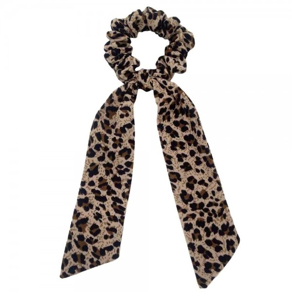 """Do everything in Love brand beige leopard print hair scarf scrunchie.  - One size - Approximately 7"""" L - 100% Polyester"""