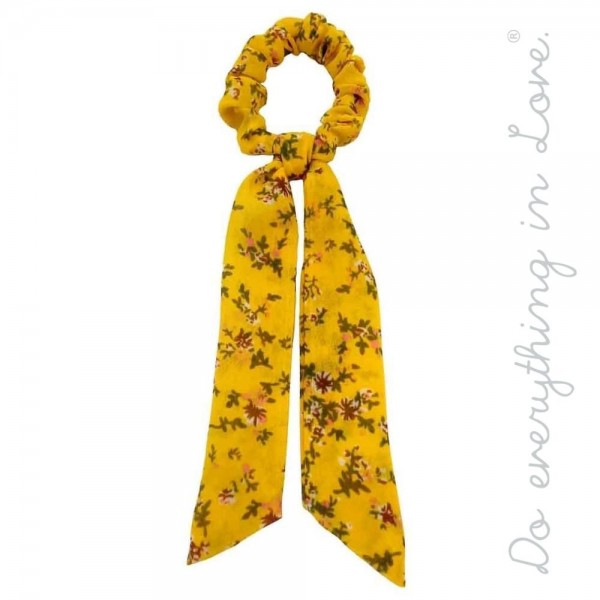 """Do everything in Love brand floral print hair scarf scrunchie.  - One size - Approximately 7"""" L - 100% Polyester"""