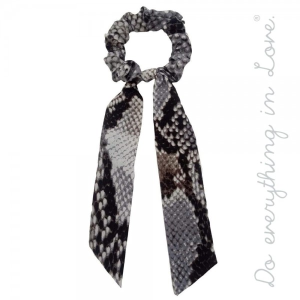 """Do everything in Love brand snakeskin hair scarf scrunchie.  - One size - Approximately 7"""" L - 100% Polyester"""