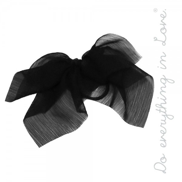 """Do everything in Love brand solid lightweight sheer ponytail scarf.  - One size - Approximately 6"""" L - 100% Polyester"""