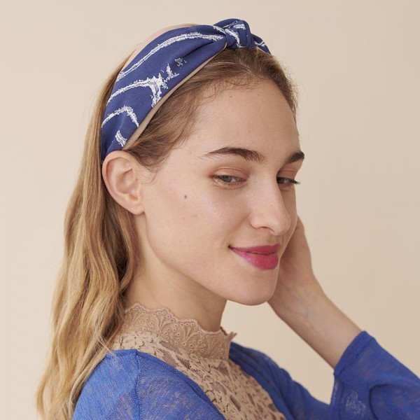 Do everything in Love brand two tone brushed stripe knotted headband.  - One size - 100% Polyester
