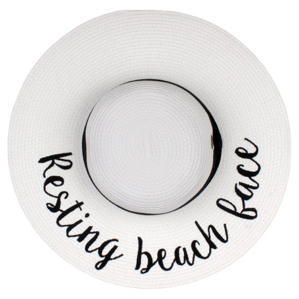 "C.C Brand, wide-brim floppy beach hat. 100% paper. Brim measures 4"" in width and hat is 15.5"" in total diameter. This hat is crushable/packable and able to hold it's shape. UPF 50+"