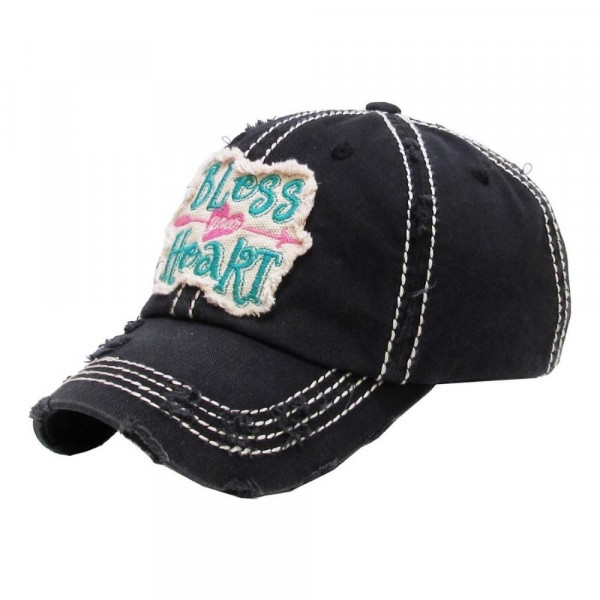 Embroidered, vintage style ball cap with washed-look details.  • 100% cotton • Adjustable back strap • One size fits most