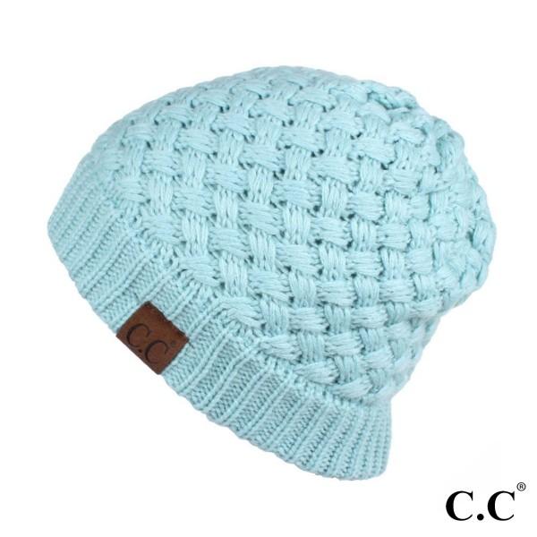 HAT-47: Ribbed knit C.C Beanie. 100% acrylic.