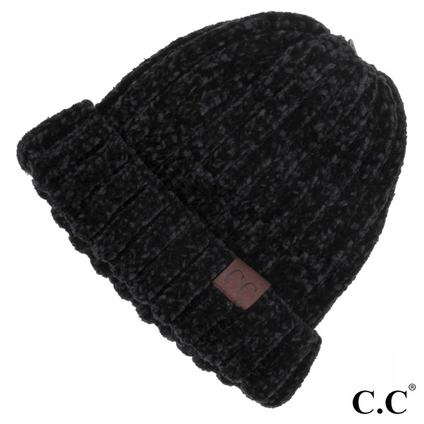 HAT-1815: Chucky ribbed chenille C.C. Beanie. 100% Chenille.