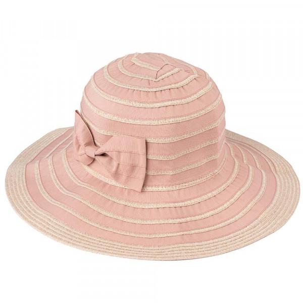 DA-3-CC foldable bucket hat with striped pattern. 100% polyester ... 6efab3b2f83a