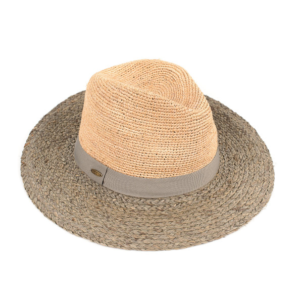 Yh-1429 CC- straw brim hat with color band. 100% paper- One size.