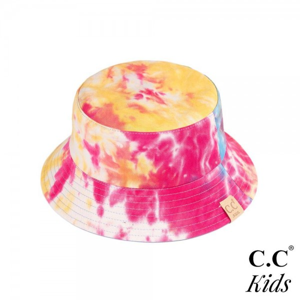 C.C Kids-2176- Kids reversible tie dyed bucket hat. 100% cotton. One size fits most.
